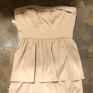 Tan size 4 BCBG strapless cocktail dress